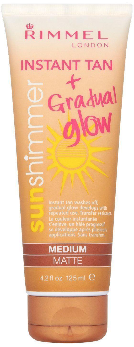 Rimmel Sun Shimmer Medium Matte Instant Tan Gradual Glow 125ml
