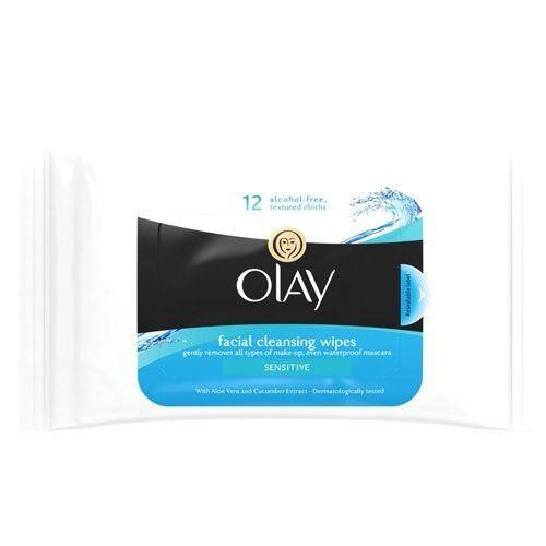 Olay Facial Cleansing Wipes Sensitive in resealable pouch - 12 Wipes