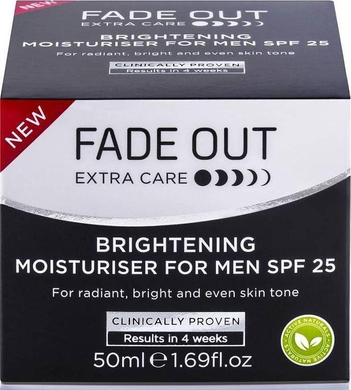 Fade Out Brightening Moisturiser For Men SPF 25 - 50ml
