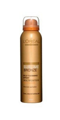 L'Oreal Sublime Bronze Self-Tanning Spray, Multiposition for Body, Natural Tan 125ml