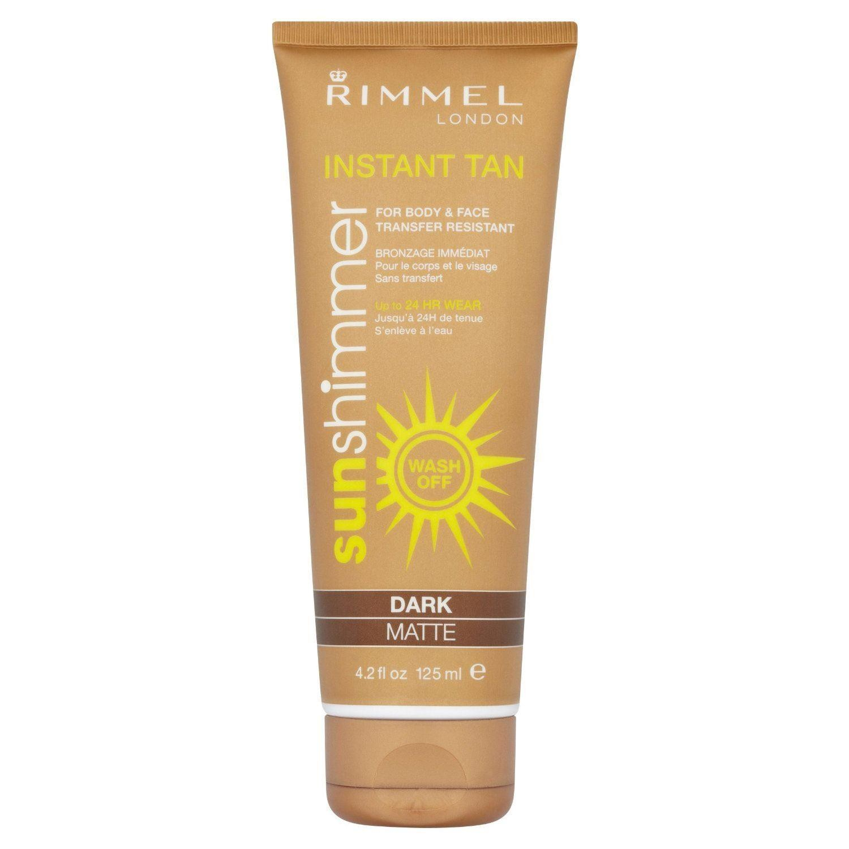 Rimmel Sunshimmer Instant Tan Makeup, Dark Matte 125 ml