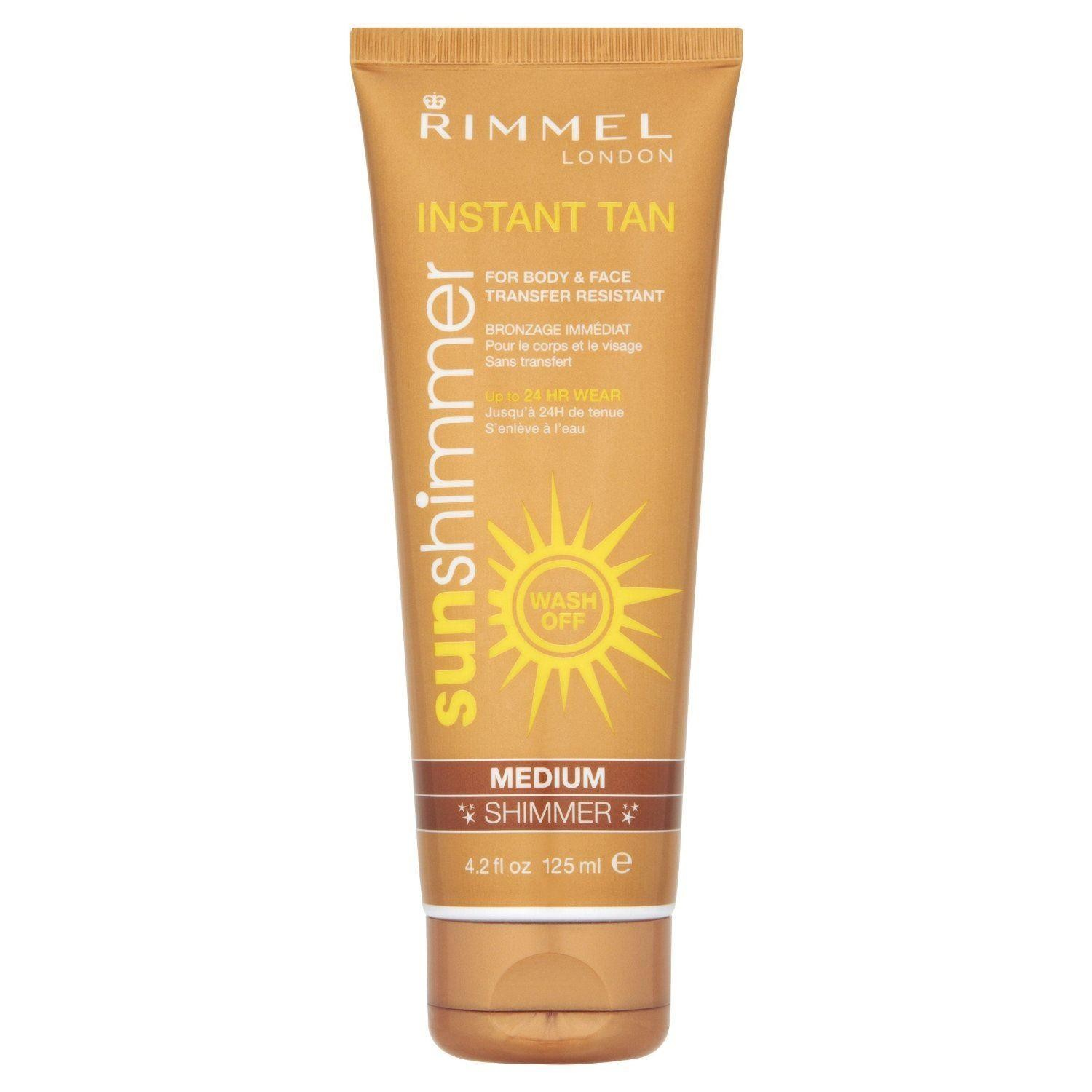 Rimmel Sunshimmer Instant Tan Makeup, Medium Shimmer 125 ml