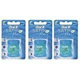 Oral-B Satin Floss Mint, 25 m- Pack of 3