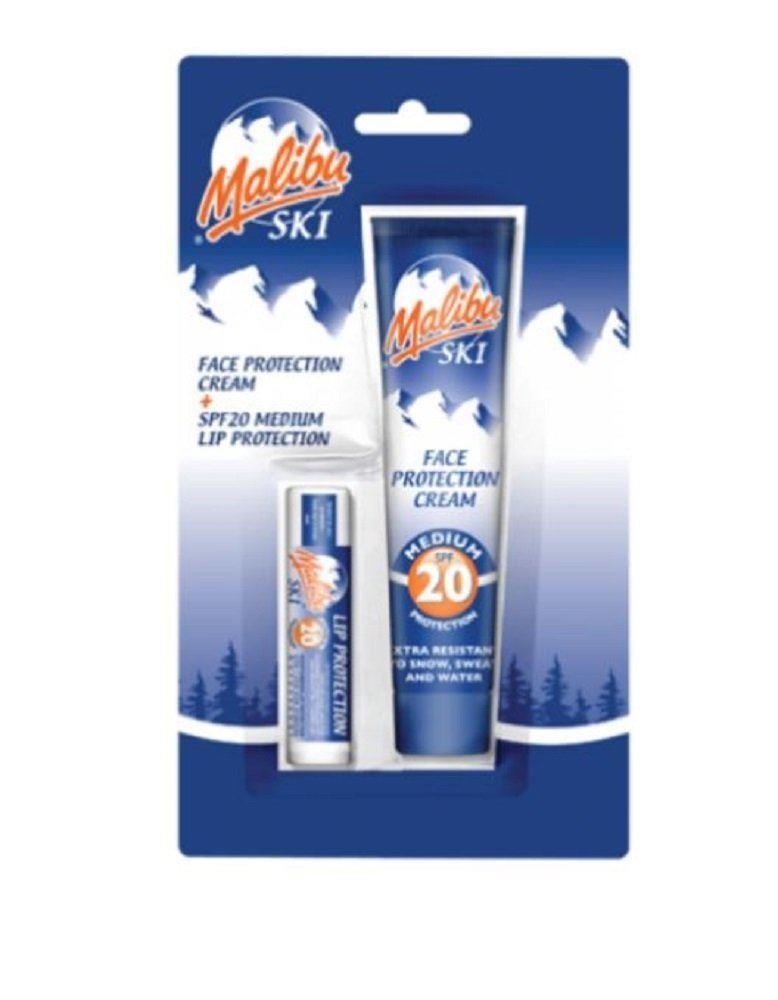 Malibu Ski Duo Face Protection Cream SPF20 + Lip Protection SPF20