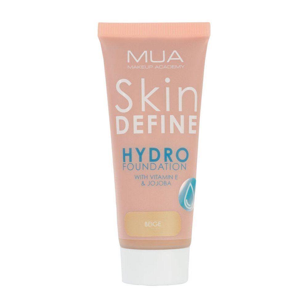 MUA Skin Define Hydro Foundation, 35 ml, Beige