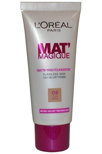 L'Oreal Mat Magique 12h Mattifying Foundation 25ml Sun Beige