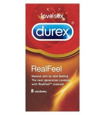 Durex Condoms Real Feal - 8 condoms