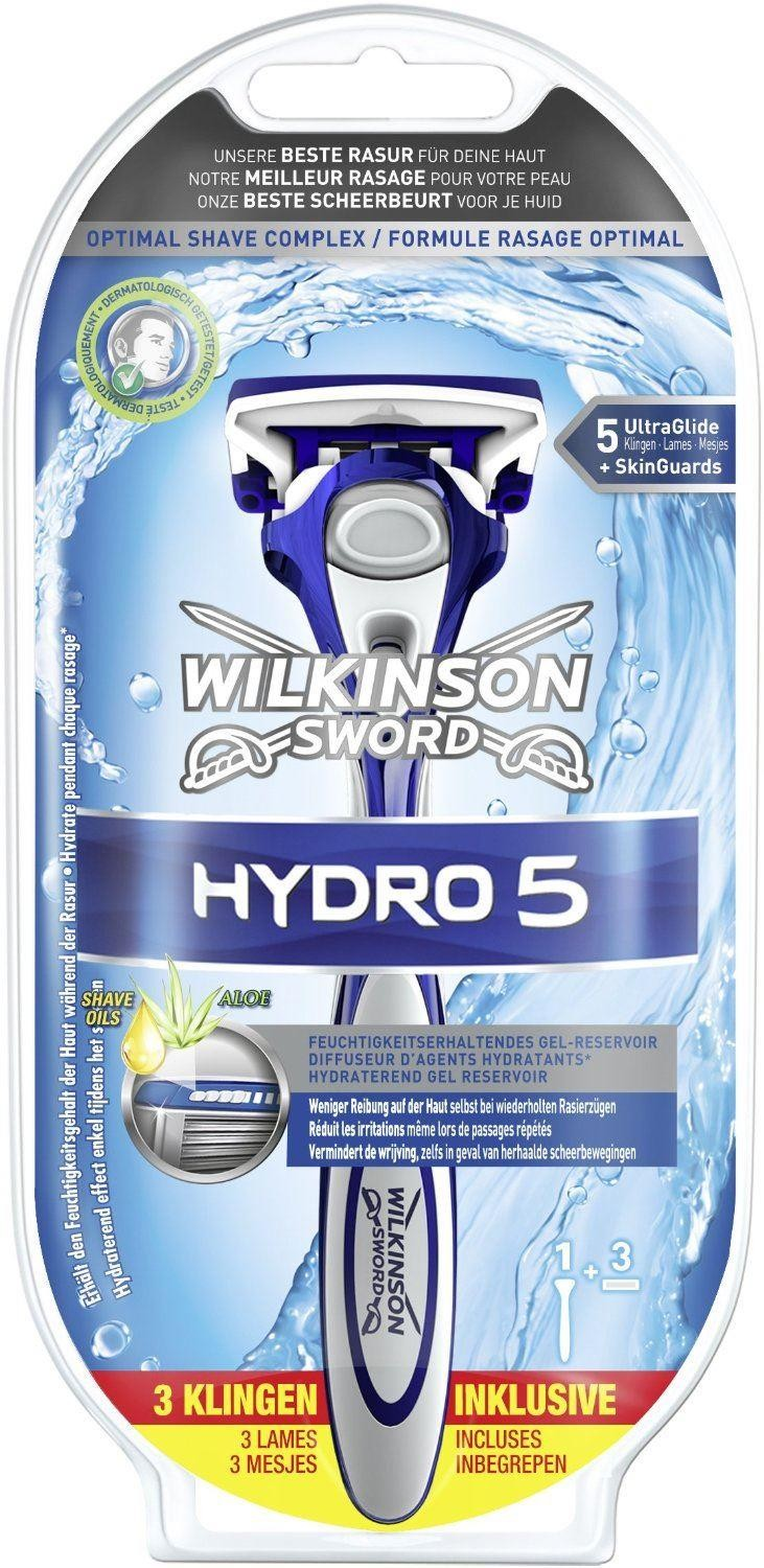 Wilkinson Sword Hydro 5 Starter Set Shaving Apparatus with 3 Blades