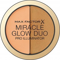Max Factor Miracle Glow Duo Pro Illuminator, Creamy Highlighter, 3-Deep
