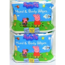 2 x 90 Peppa Pig Hand and Body Flushable Wipes, Perfect for babies needs, Dermatologically tested, suitable for all skin types.