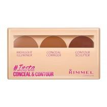 Rimmel London Insta Conceal & Contour Palette, Dark, 8.4 g