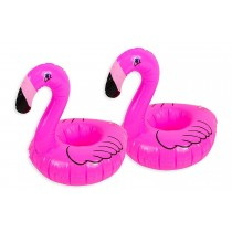 Inflatable Drinks Holder Flamingo Cup Holder Swimming Pool Summer Can Holder Beach Party Floating Drinks Holder Float Bath Hot Tub Lilo - Pack of 2