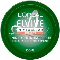 L'Oréal Phytoclear Pre Shampoo Exfoliating Scrub Mask 150ml (Pack of 3)