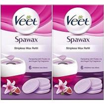 Veet SpaWax Stripless Wax Refills (12 Wax Discs) Purple Lily & Sugar Fig