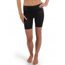Spanx Skinny Britches Mid Thigh Shaper Control Short (Small Black) [Apparel]