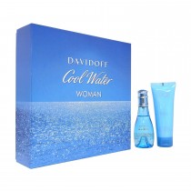 Davidoff Cool Water Woman Eau de Toilette Spray Gift Set 50 ml + 75ml Body Lotion