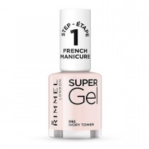 Rimmel Super Gel French Manicure Nail Polish, 92 Ivory Tower
