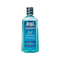 Pearl drops smokers fresh mint mouthwash 400ml - pack of 3