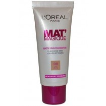 L'Oreal Mat Magique 12h Mattifying Foundation 25ml Sun Beige