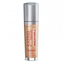 Rimmel London Lasting Finish Breathable Foundation, 400 Natural Beige, 30 ml