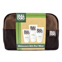 Bulldog for Men Brown Wash Bag - Contents Not Included