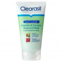 Clearasil Daily Clear Vitamins and Extracts Wash and Mask 150ml