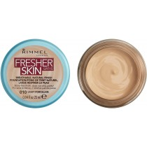 Rimmel London Fresher Skin Foundation, 1 Light Porcelain