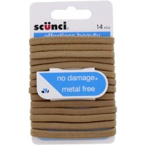 Scunci Flat No Damage Hair Flat Elastics Bobbles / Hair Ties - Blonde - 14pc